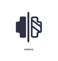 Mirror horizontally icon on white background vector