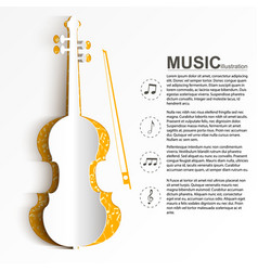 Musical instrument template vector