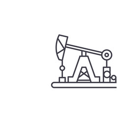 oil industry line icon concept oil industry vector image