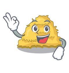 Okay hay bale character cartoon vector