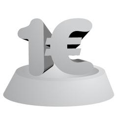 One euro symbol vector