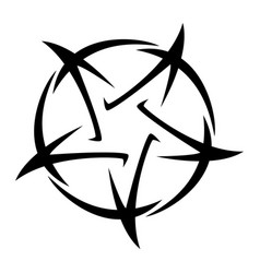 Pentagram - tattoo five-poi vector