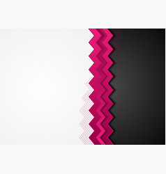 Pink and black hi-tech abstract corporate vector