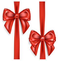 red bows isolated on white background vector image
