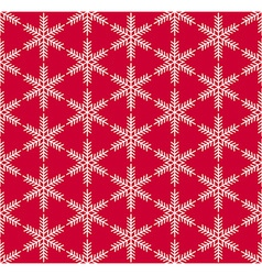 Red seamless snowflake pattern vector