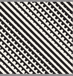 seamless black and white halftone lines pattern vector image