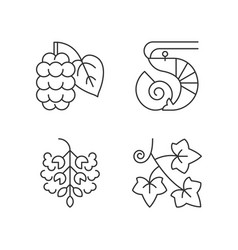 Seasonal allergen causes linear icons set vector