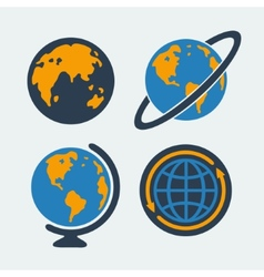 set symbols planet vector image