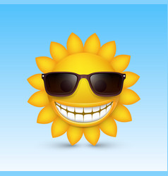 Smiley sun glasses vector