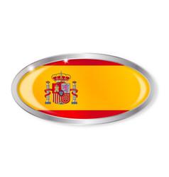 Spanish flag oval button vector