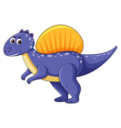 Spinosaurus dinosaur on white background vector