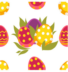 spring easter seamless pattern vector image