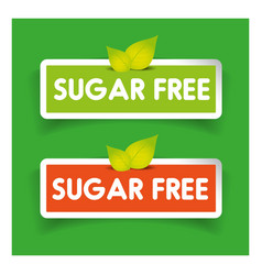 Sugar free label set vector image