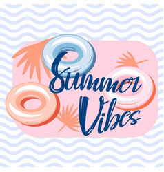 Summer vibes pool banner template design vector