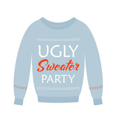 ugly sweater party card vector image