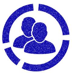 user diagram icon grunge watermark vector image