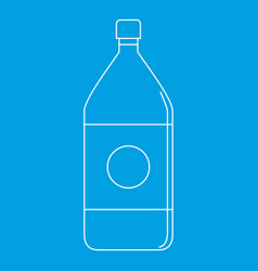 water bottle icon outline style vector image
