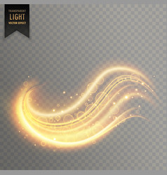 wavy golden transparent light effect vector image