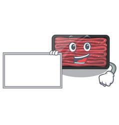with board minced meat isolated in character vector image