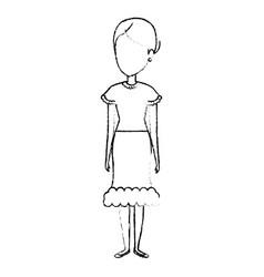 woman in farmer costume vector image