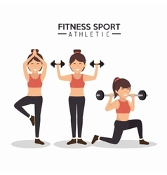 women fitness sport athletics design vector image