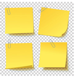 yellow sticker with paper clip attached vector image