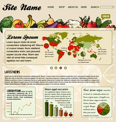Colorful Website Template vector image vector image