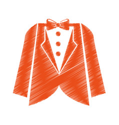 elegant masculine dress icon vector image vector image