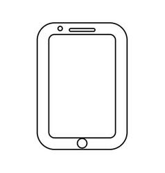 line nice smartphone symbol icon design vector image