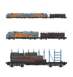 locomotive with railway platform vector image