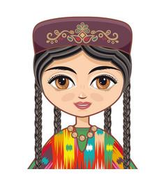 uzbekistan historical clothes vector image