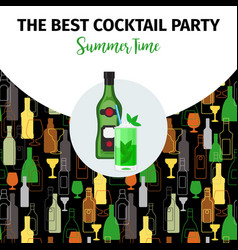banner for best cocktail party bar vector image vector image