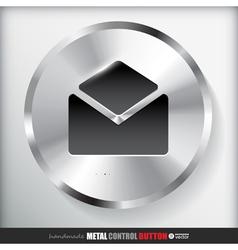 Circle metal contact button vector