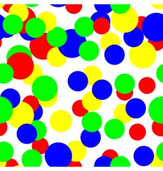 Colorful circles pattern seamless background vector image vector image