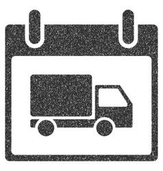 Delivery Car Calendar Day Grainy Texture Icon vector image vector image