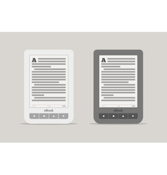 E-book reader or tablet computer mockup Black and vector image