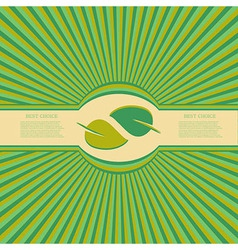 eco background Eps10 vector image