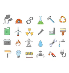 Industry work icons set vector image vector image