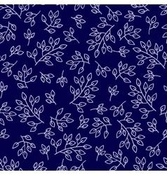 Leaves seamless pattern set vector image