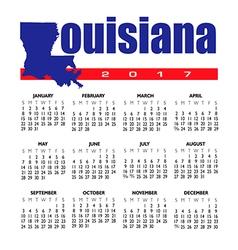 2017 Louisiana calendar vector image