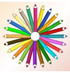 Arts concept with pencils vector image vector image
