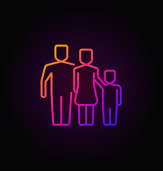 colorful outline family icon vector image