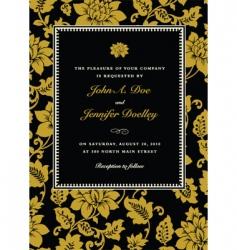 gold ornate rose frame vector image vector image