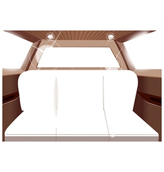 limo interior seats vector image