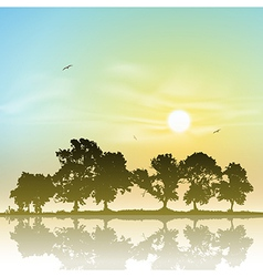 Line of Trees vector image vector image