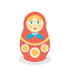russian dolls matrioshka flat style vector image