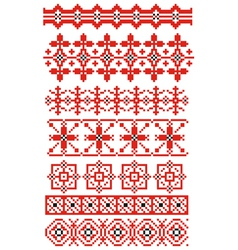 russian ornaments vector image vector image