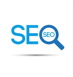 search engine optimization logo vector image