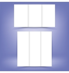White Paper Brochures vector image