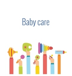 Baby care flat concept vector image